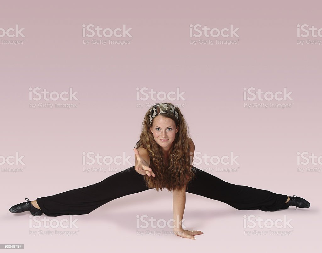 fitness dancer on pink royalty-free stock photo
