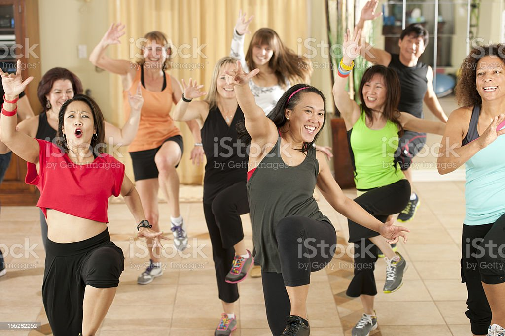 Fitness dancing stock photo