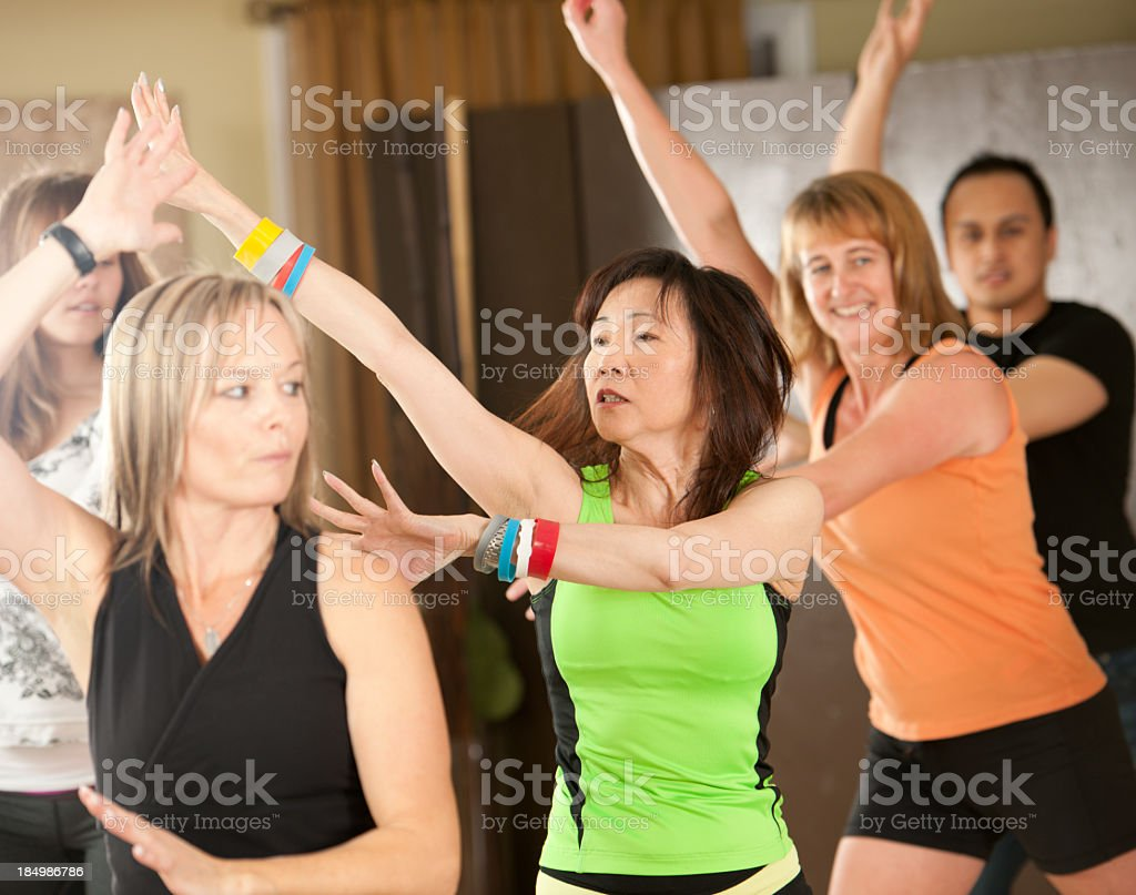 Fitness dancing royalty-free stock photo