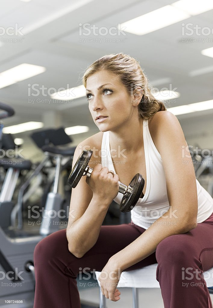 Fitness Determination royalty-free stock photo