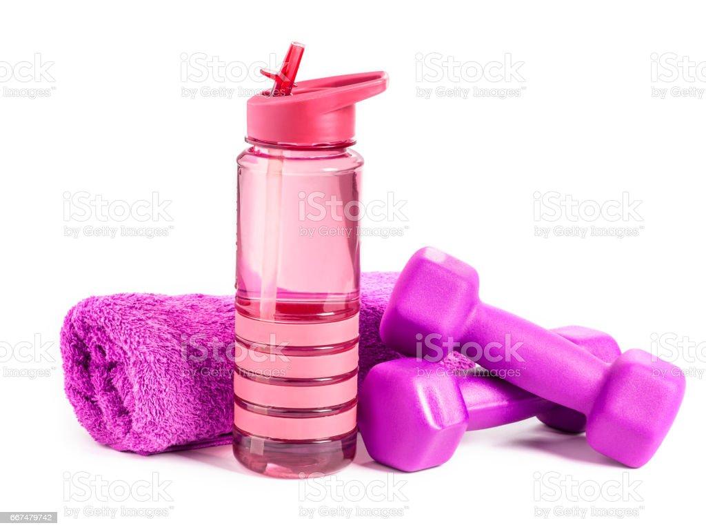fitness dumbbell stock photo