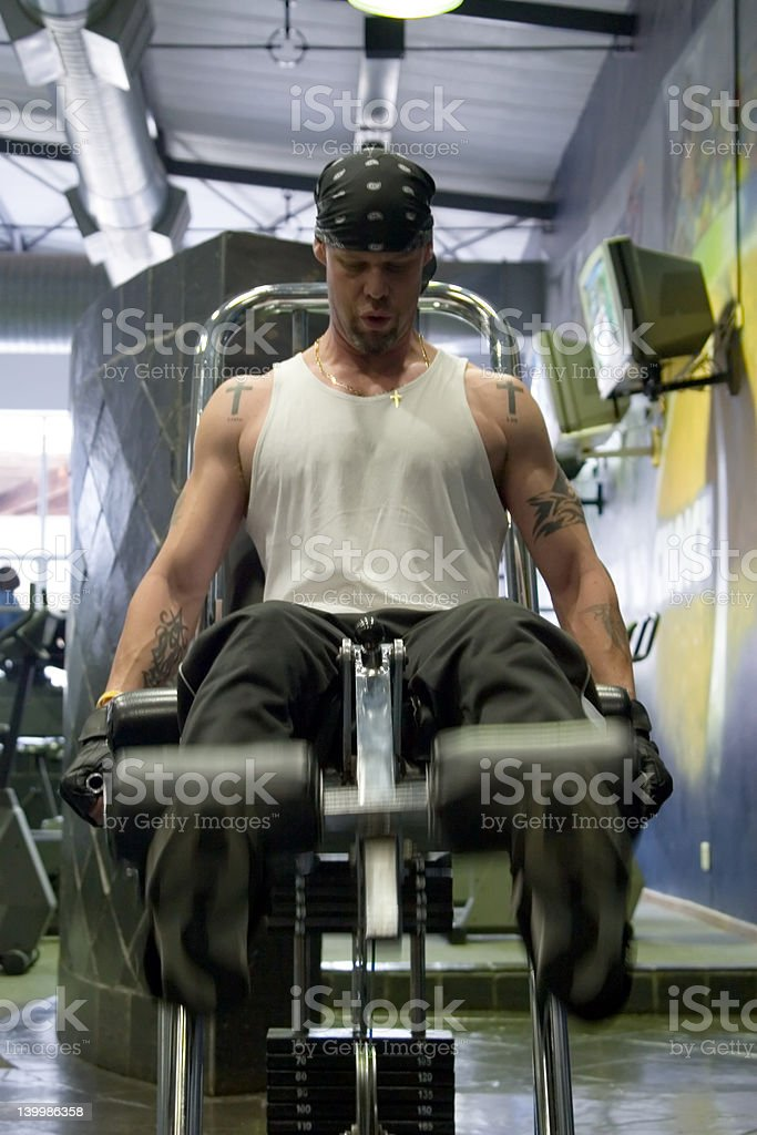 fitness exercises royalty-free stock photo