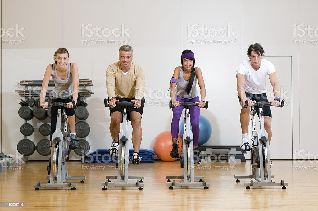 Fitness exercising royalty-free stock photo