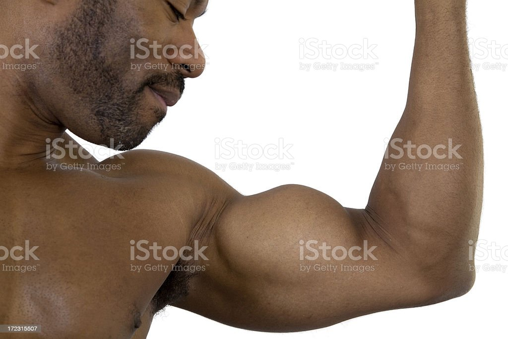 Fitness, Focus on Biceps royalty-free stock photo
