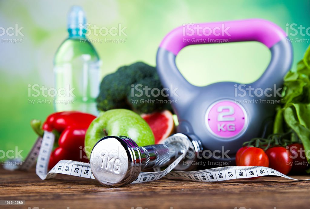 Fitness Food, diet, Vegetable composition stock photo