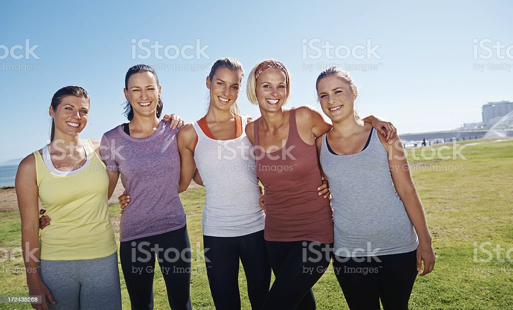 Fitness friends stock photo