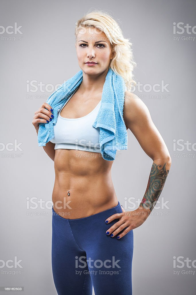 Fitness girl after training royalty-free stock photo