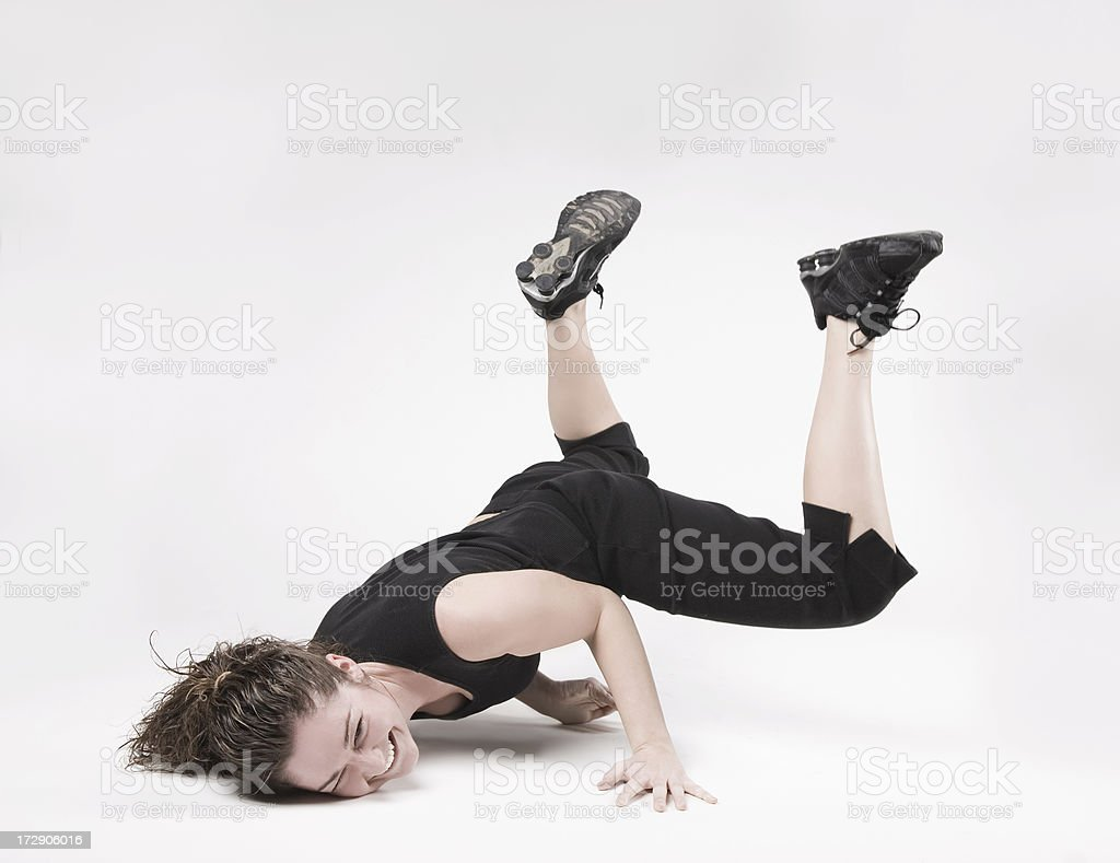 Fitness Girl Falls and Smashes Her Face royalty-free stock photo