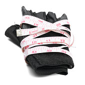 fitness glove and measure tape