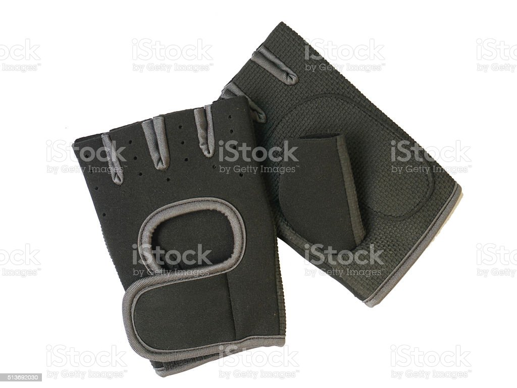 Fitness gloves isolated  white stock photo