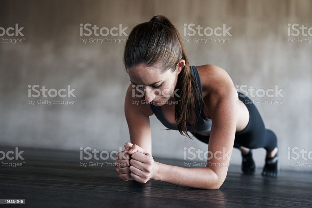 Fitness goals are achieved not given stock photo