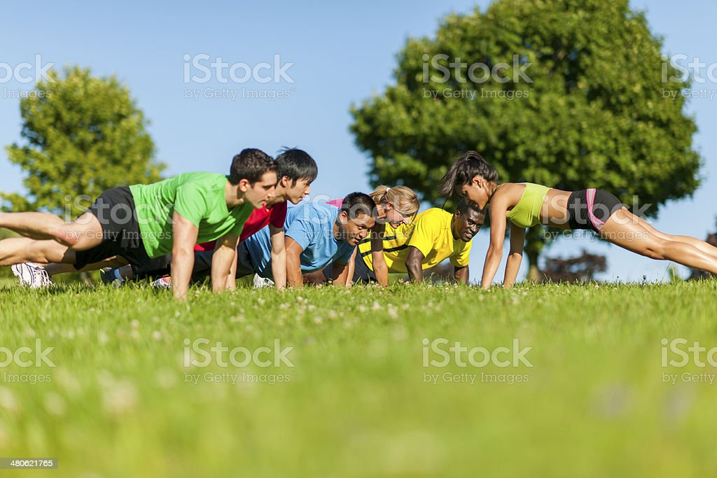 Fitness Group royalty-free stock photo
