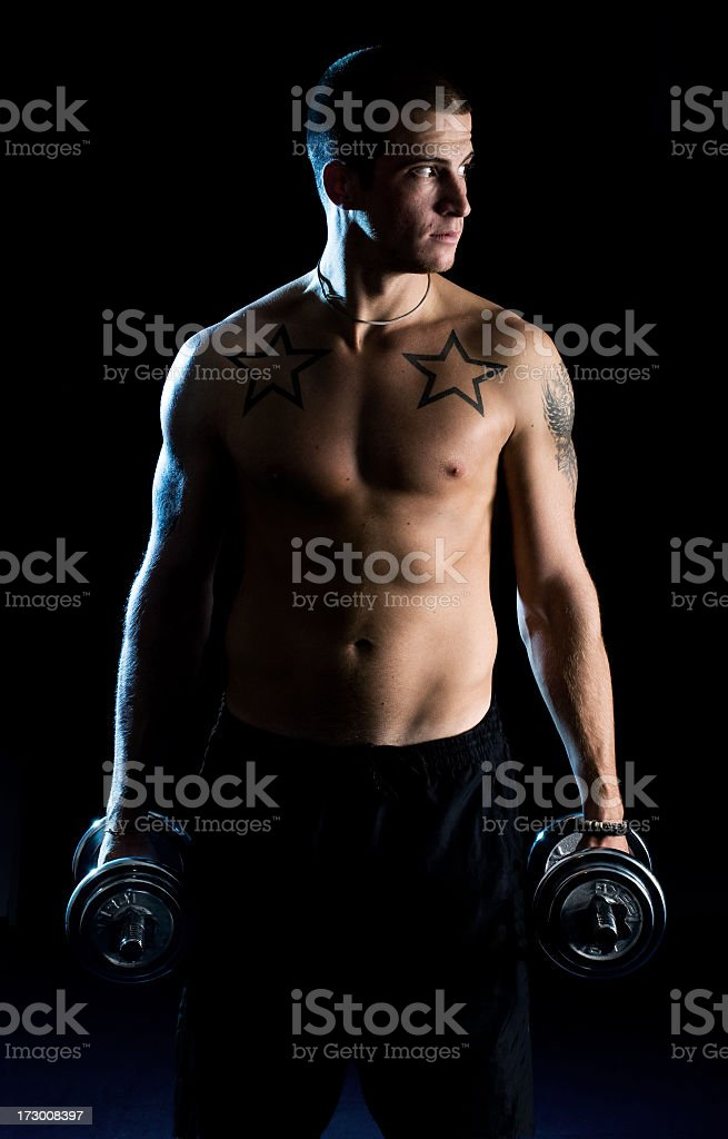 Fitness guy royalty-free stock photo