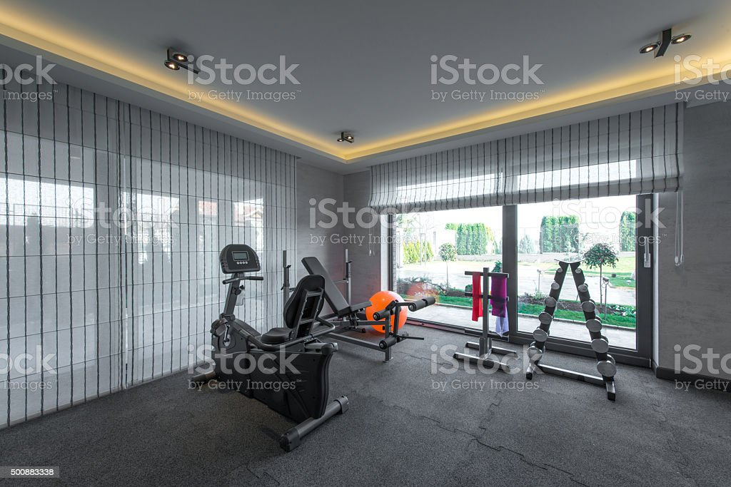 Fitness gym health club stock photo