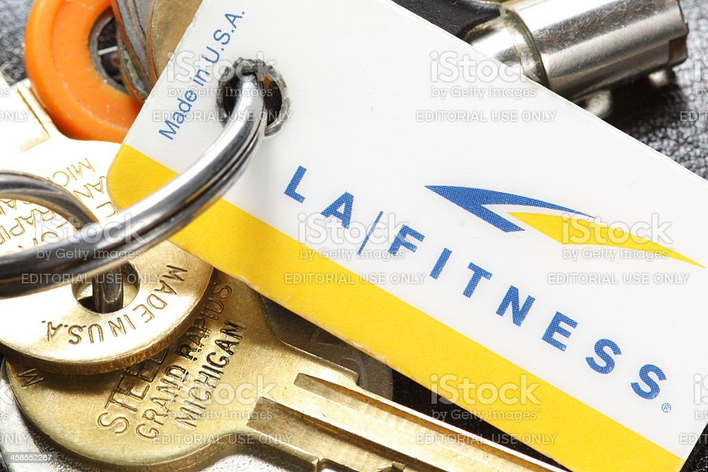 LA Fitness Gym Pass royalty-free stock photo