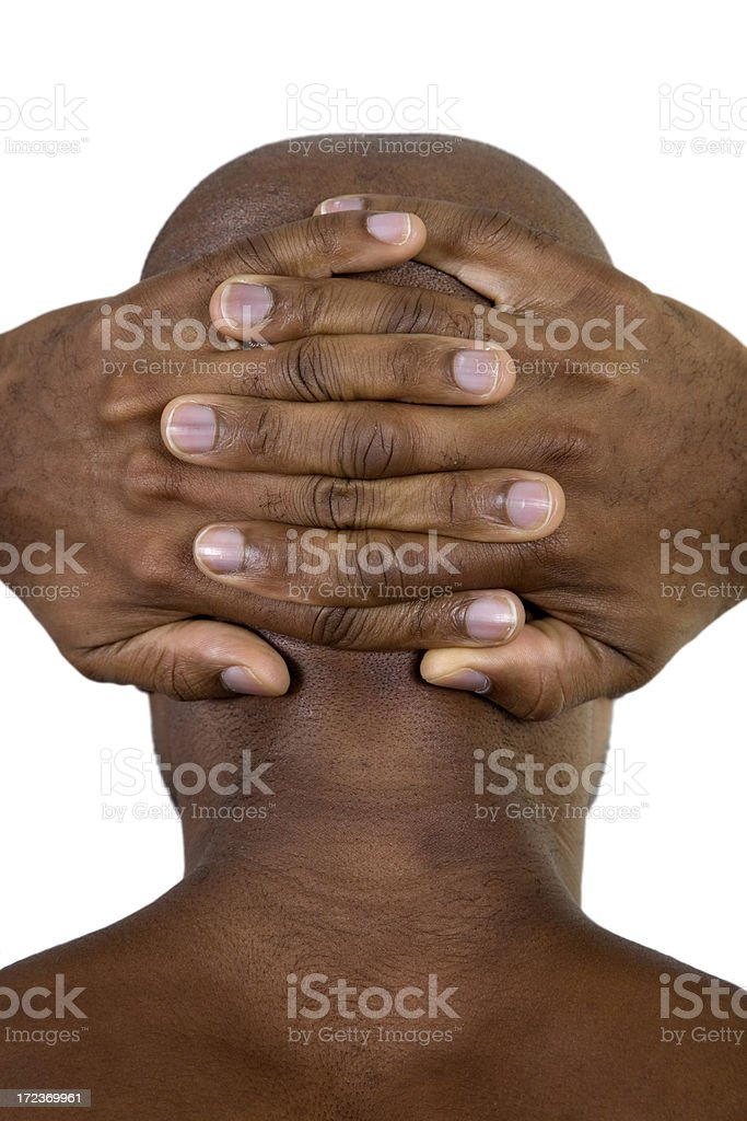 Fitness, Hands Behind Head stock photo