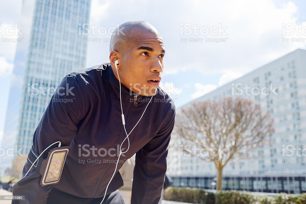 Fitness in the City stock photo