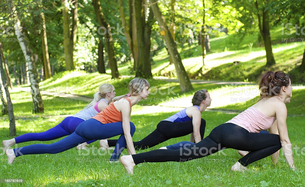 Fitness In The Park royalty-free stock photo