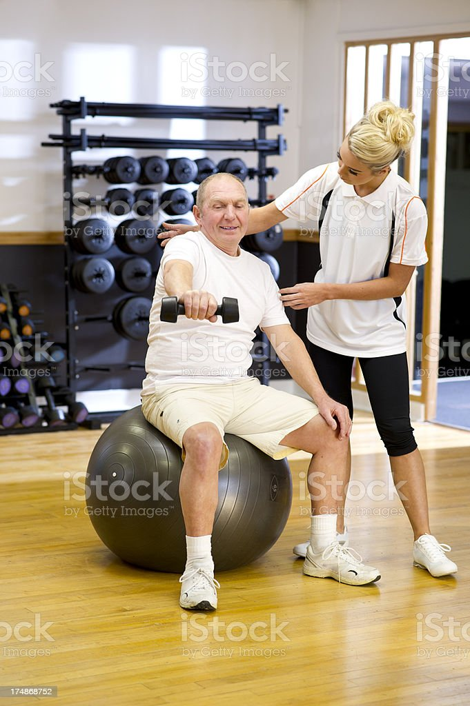 fitness instructor physio session royalty-free stock photo