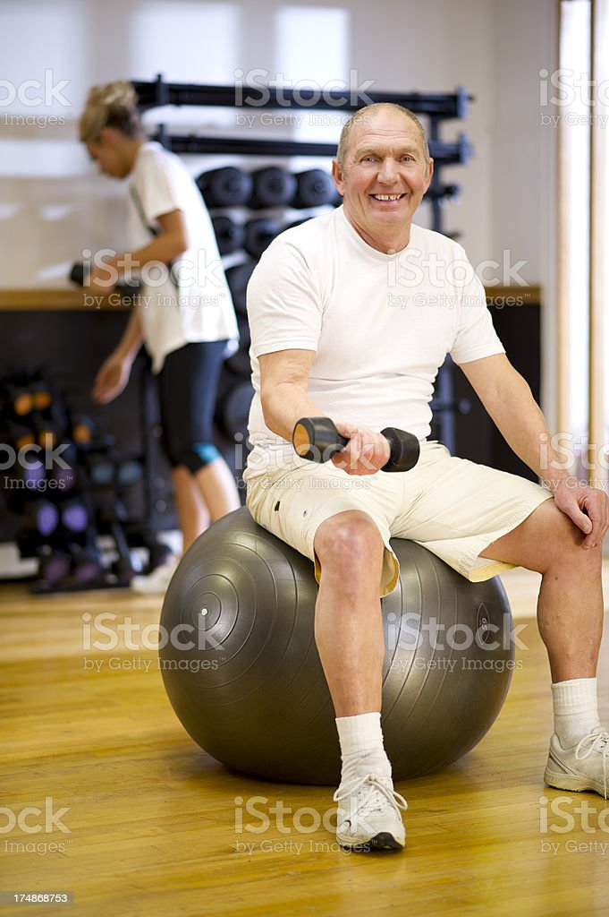 fitness instructor physio session stock photo