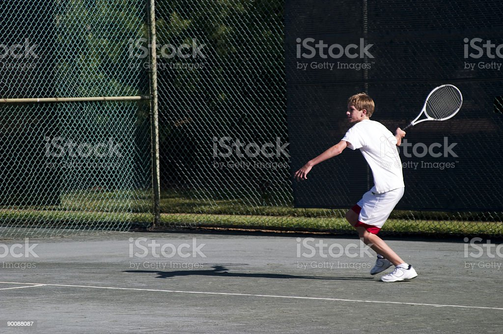 Fitness is a life habit! Young Tennis Star royalty-free stock photo
