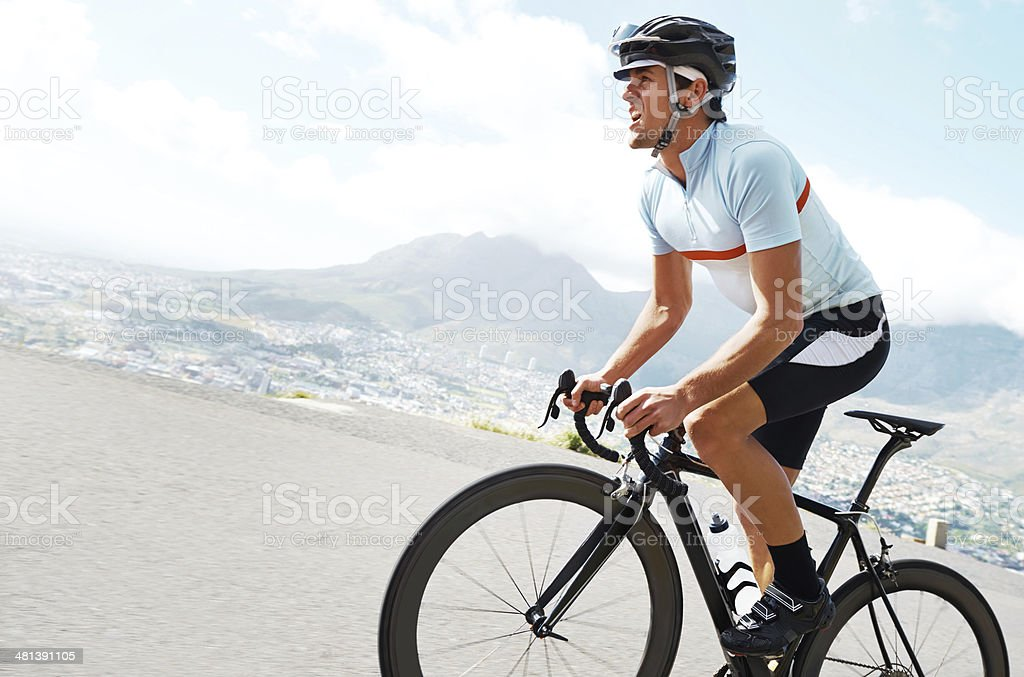 Fitness is a lifestyle for him royalty-free stock photo