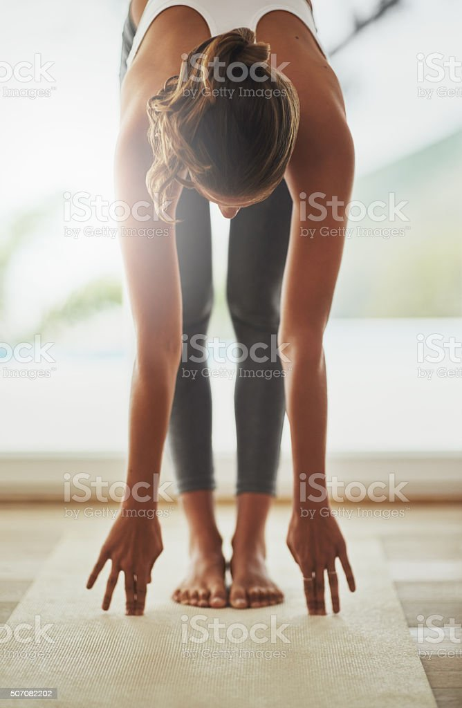 Fitness is a way of life stock photo