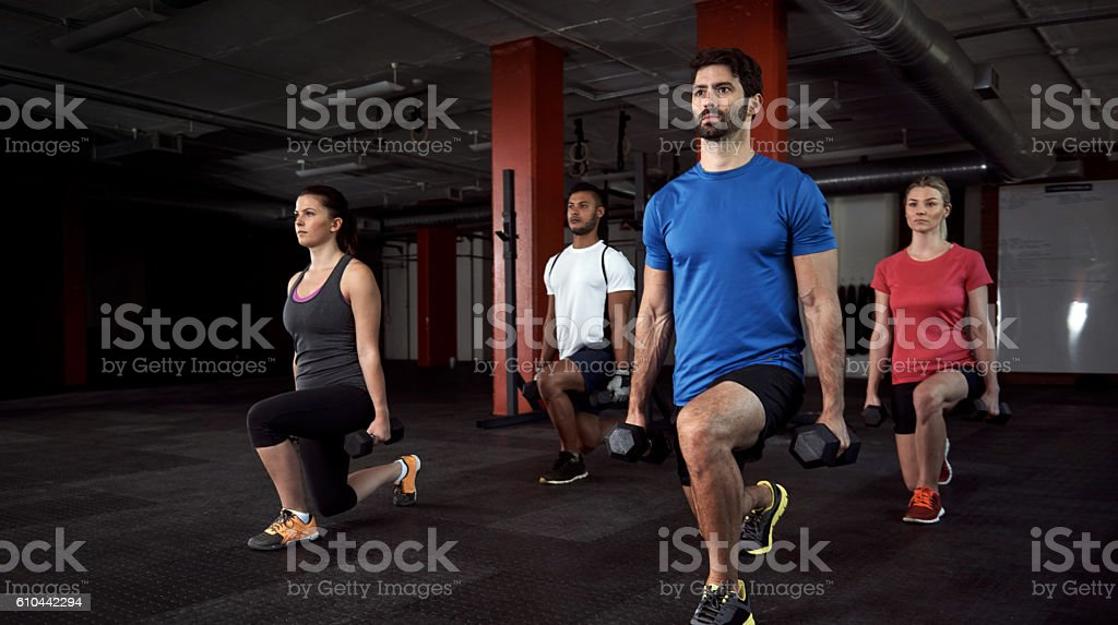 Fitness is earned, not given stock photo