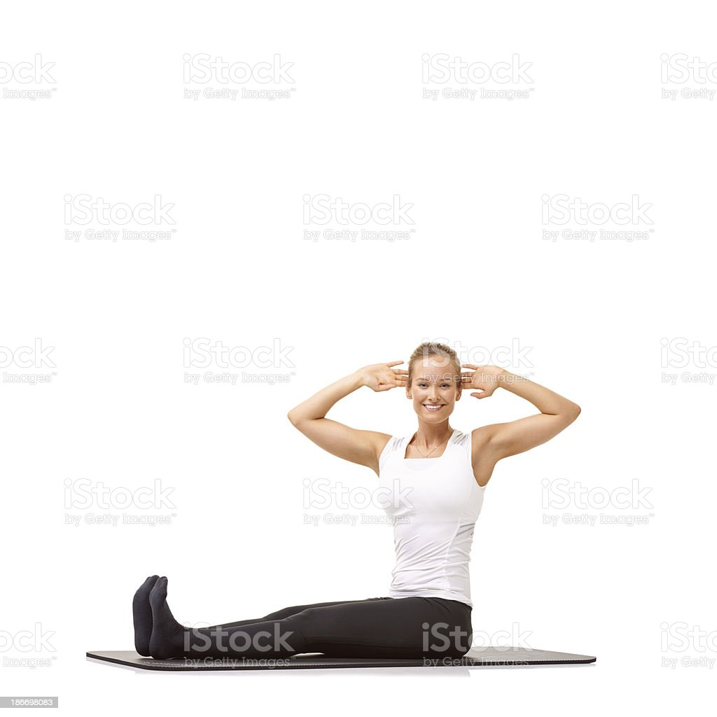 Fitness is important to me! royalty-free stock photo