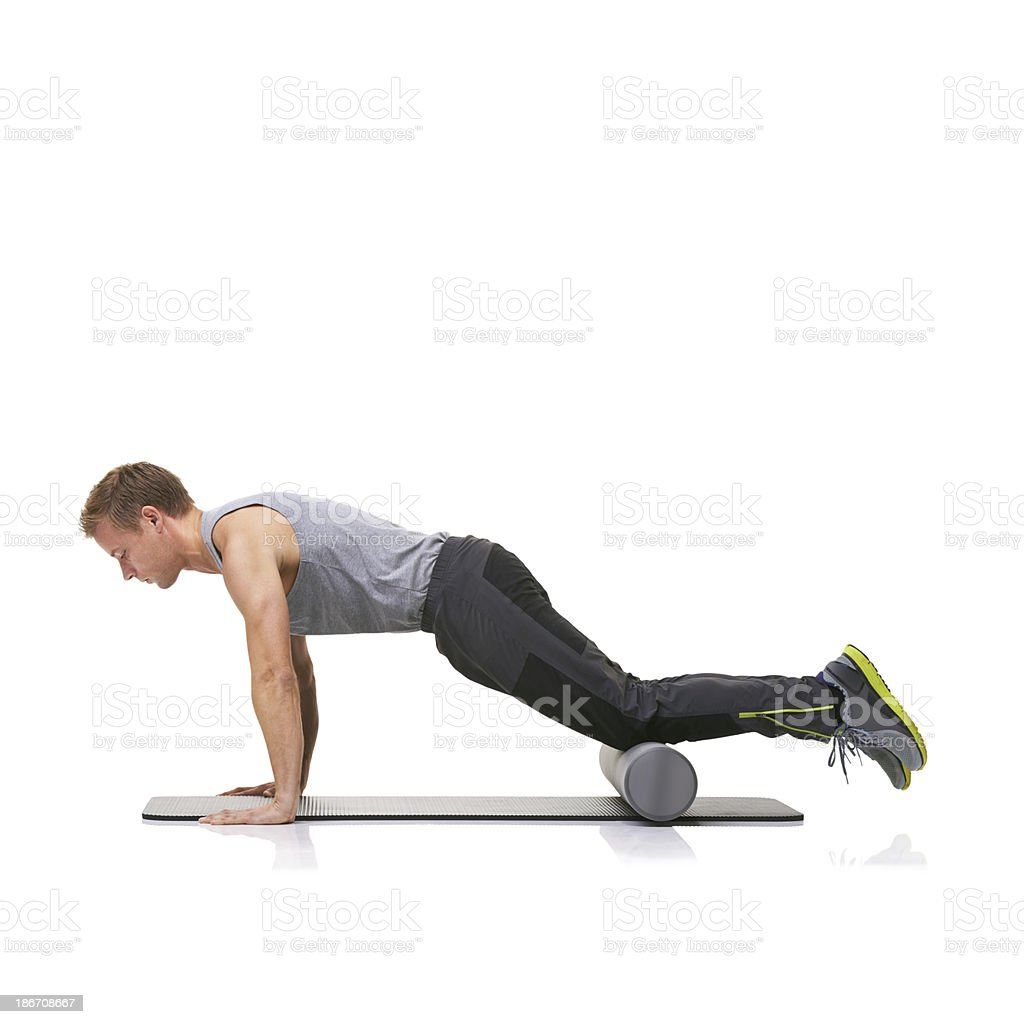 Fitness is one of his priorities royalty-free stock photo