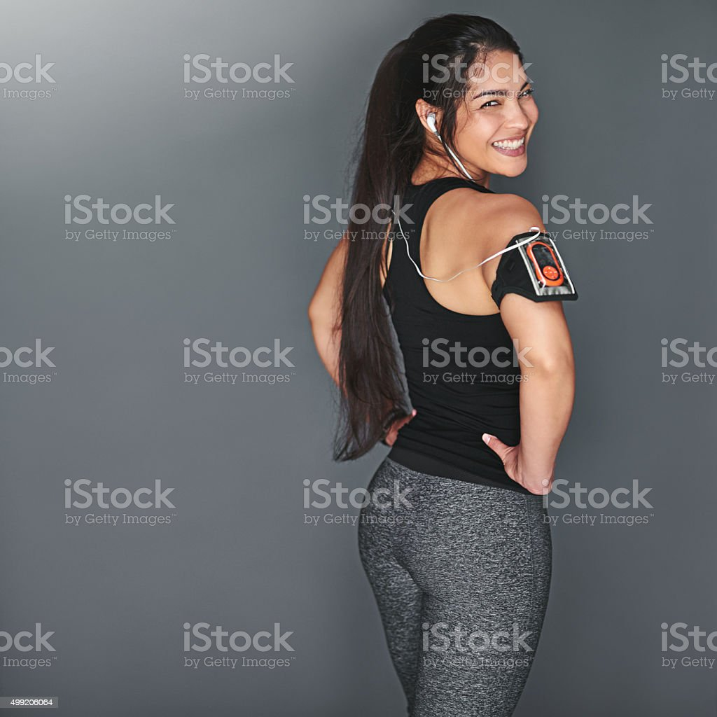 Fitness isn't just a goal, it's a way of life stock photo