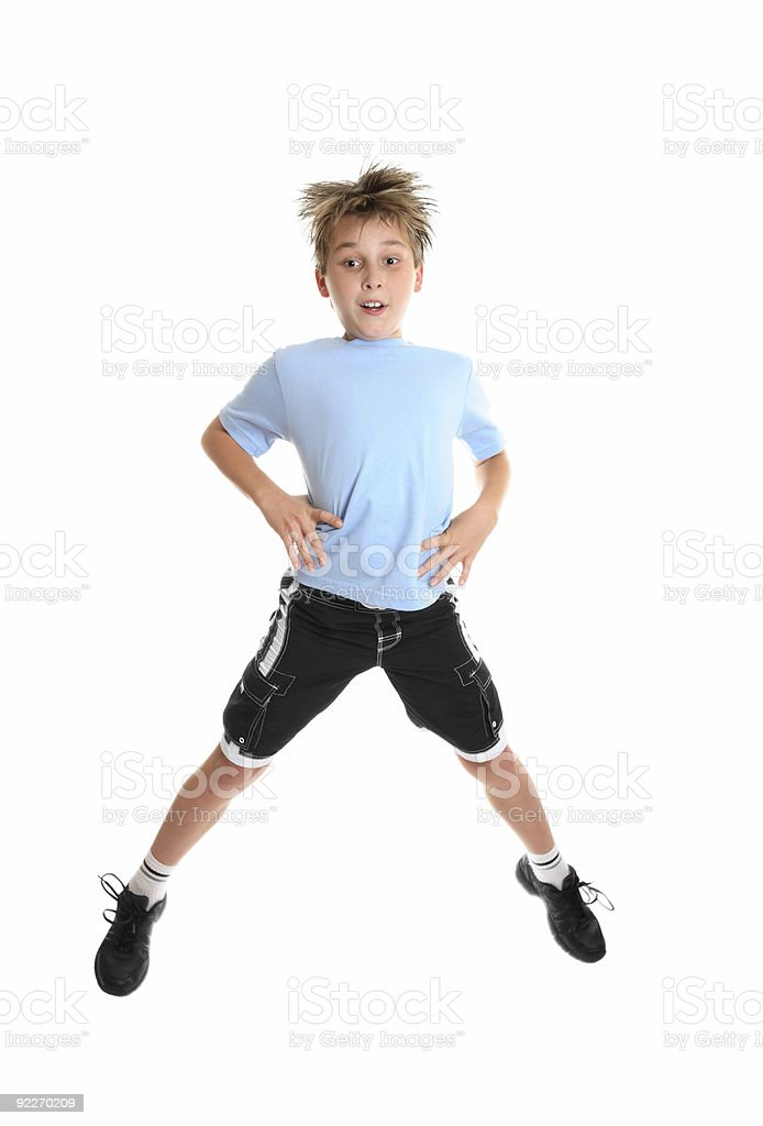 Fitness jumps stock photo