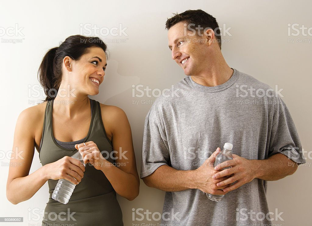 Fitness man and woman royalty-free stock photo