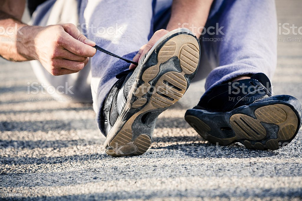 Fitness man getting ready for Sport royalty-free stock photo