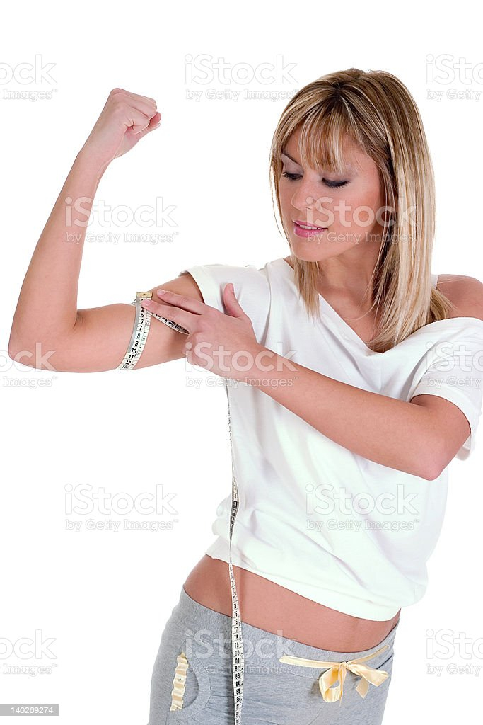 Fitness measuring 2 royalty-free stock photo