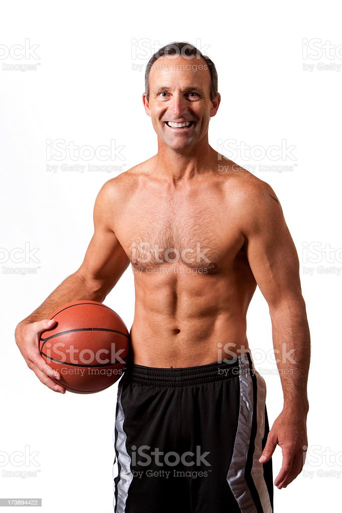 Fitness: Mid-Adult Basketball Player Portrait royalty-free stock photo