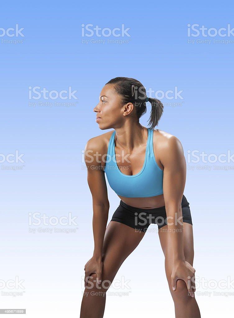 Fitness Model royalty-free stock photo