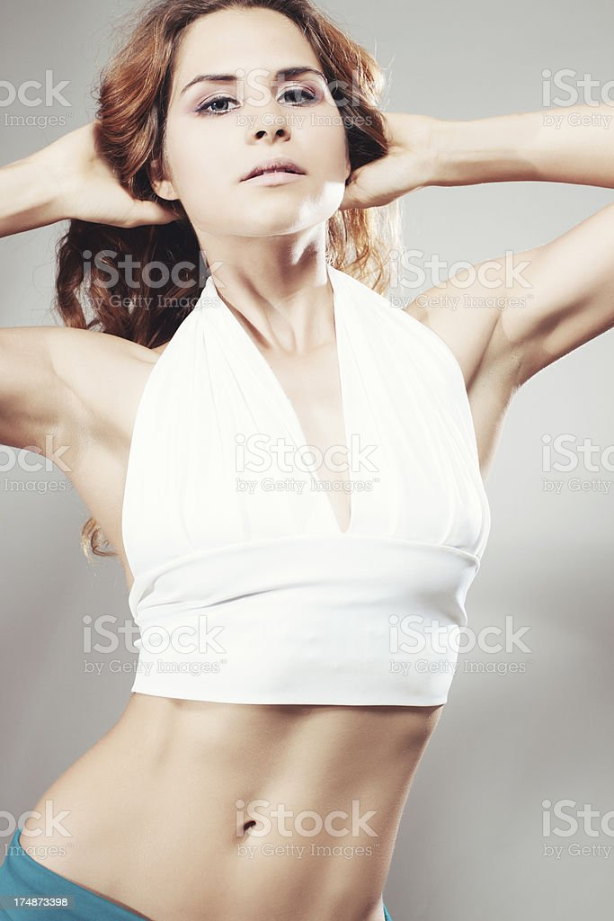 Fitness Model Posing royalty-free stock photo