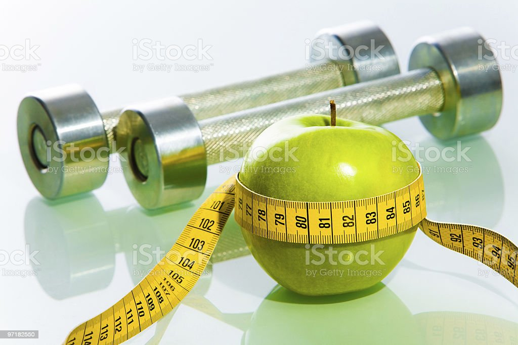 Fitness objects royalty-free stock photo