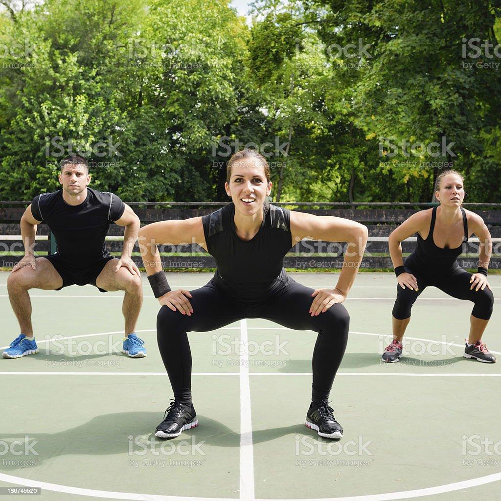 Fitness program presentation stock photo