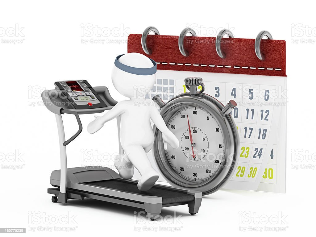 Fitness schedule royalty-free stock photo
