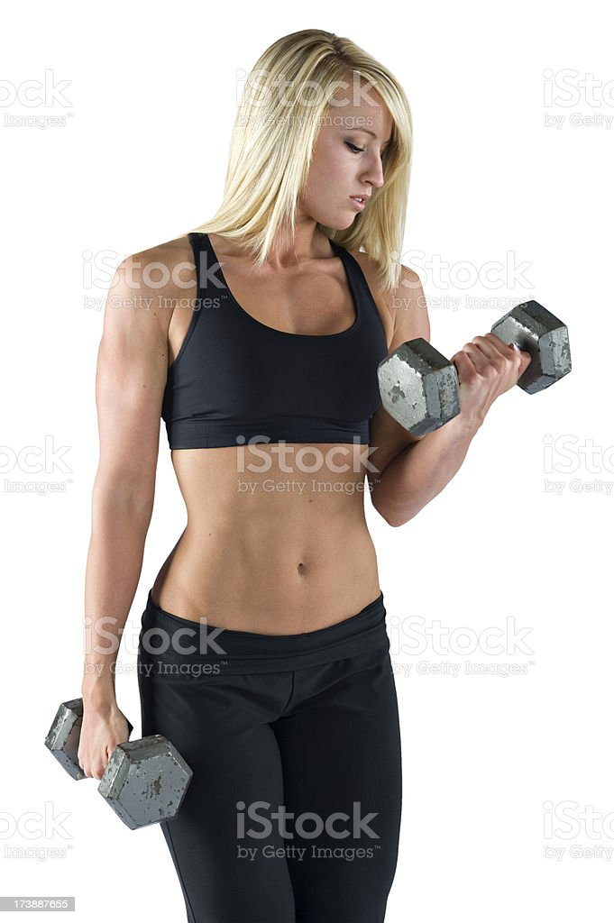 Fitness - Sexy Fit Woman Exercising (XL) royalty-free stock photo