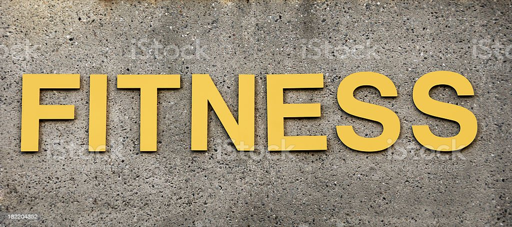 Fitness Sign at Health and Exercise Club royalty-free stock photo