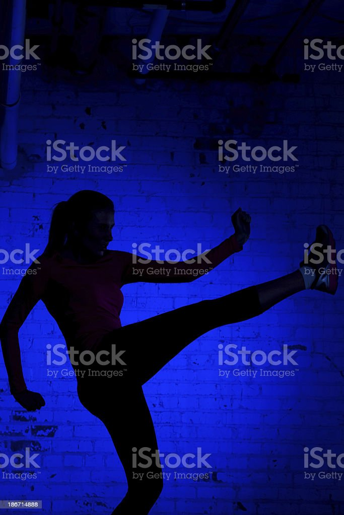 Fitness Silhouette royalty-free stock photo
