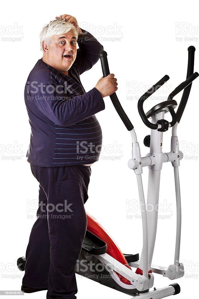 Fitness stress royalty-free stock photo