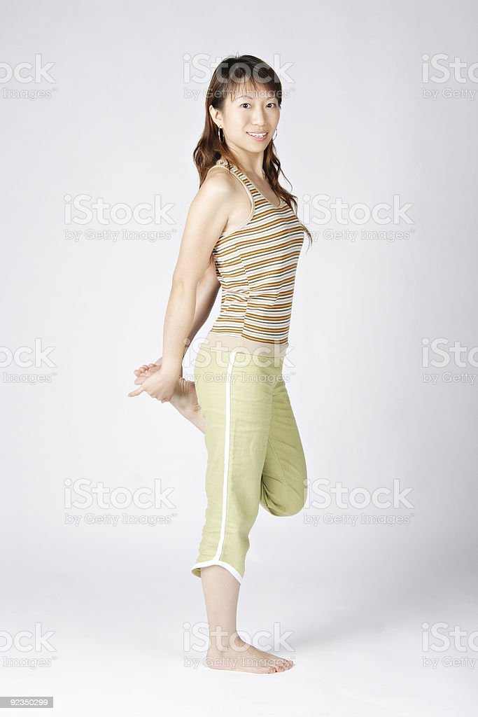 Fitness: Stretching stock photo
