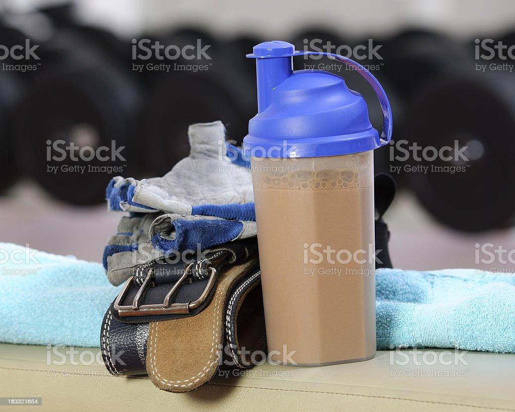 fitness supplement stock photo
