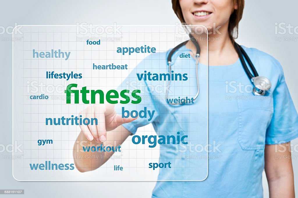 Fitness / touch screen (Click for more) stock photo