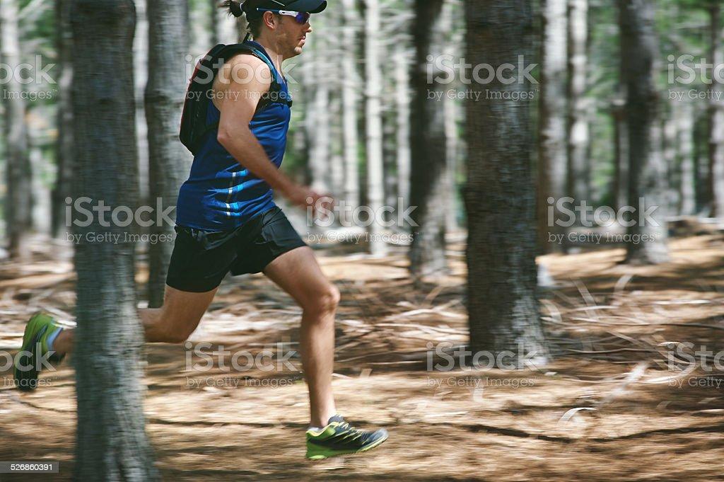 fitness trail man stock photo