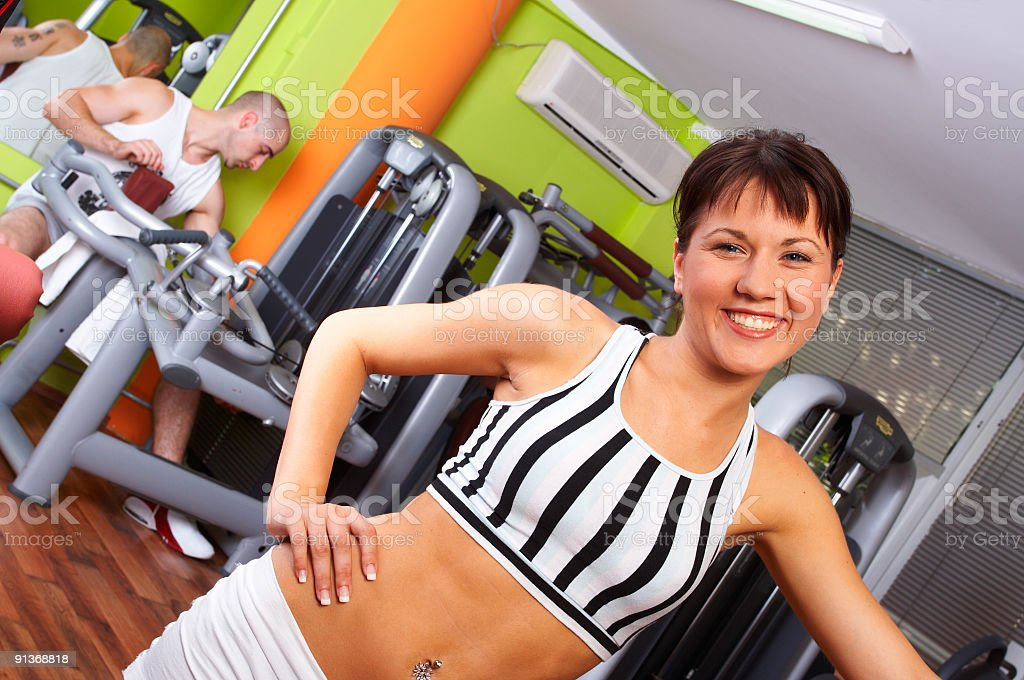 Fitness trainer royalty-free stock photo